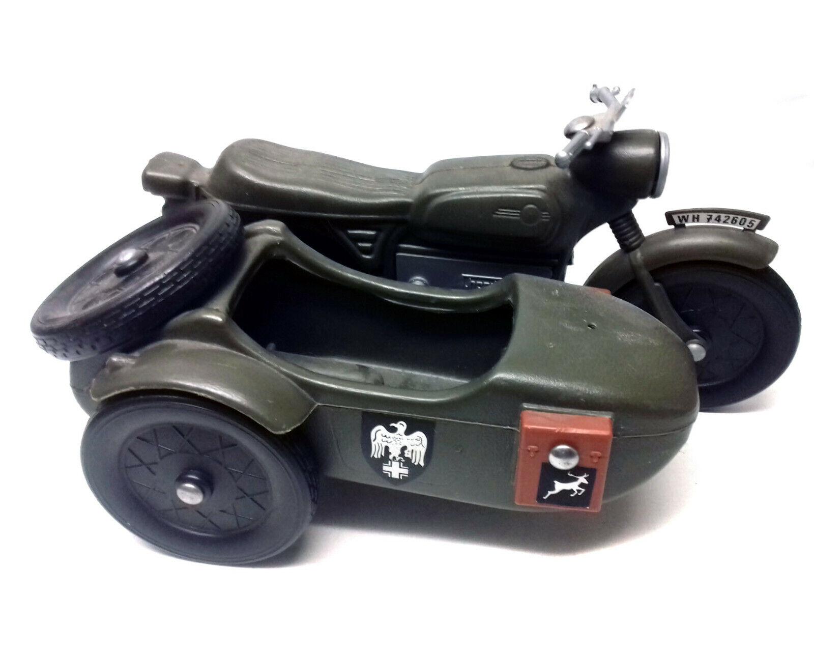 Original Vintage 70's GI JOE ACTION MAN MOTORBIKE & SIDECAR toy  for 12  figures