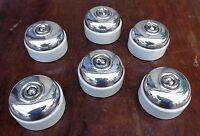 """un ancien interrupteur """" va et  vient""""en porcelaine et aluminium poli etat neuf"""