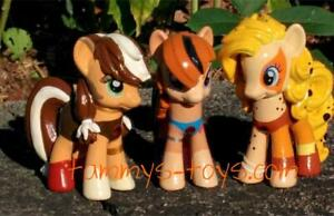 Lot-of-3-CUSTOM-THUNDERCATS-Cheetara-Wilykit-Pumyra-MY-LITTLE-PONY-3-034-Toy-Figure