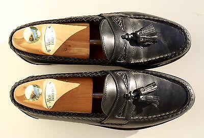 Allen Edmonds 10.5D Maxfield Gent's Black Slip-On Tasseled Loafers USA - $275.00