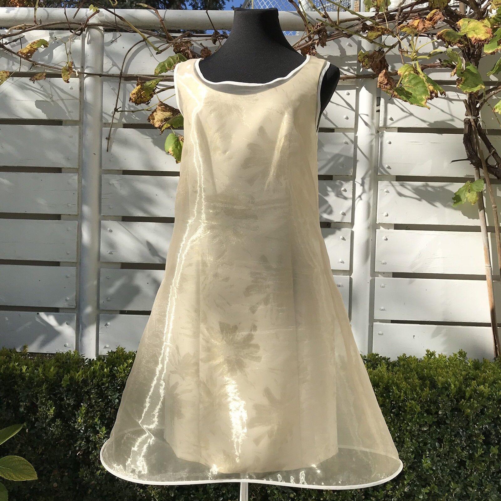 Kleid Swing Gold doppellagig Gr. 36 glänzend wie neu