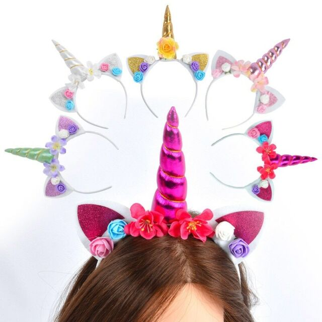 Rainbow Unicorn Headband Girl Headband Unicorn Hairband Age 3+
