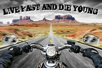 Travel Poster Live Fast Die Young