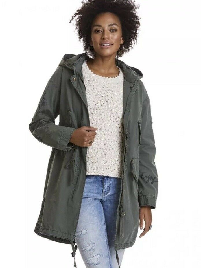 Odd Molly Coat Army Green Time To Feel Free Parka S  1 Sundance Anthropologie
