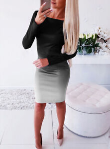 Bandage-Evening-Party-Club-Bodycon-Dress-Mini-Women-Casual-Long-Sleeve-Cocktail