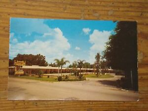 Image Is Loading Vintage Postcard Tropical Hotel Court Bartow Florida