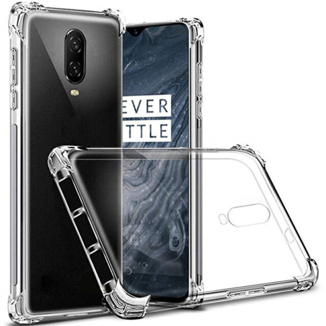 For OnePlus 6T 1+ 6T Shockproof Clear Transparent Silicone
