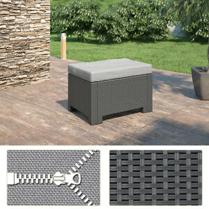 bica colorado polyrattan sitzhocker gartenm bel rattanoptik hocker sitzkissen ebay. Black Bedroom Furniture Sets. Home Design Ideas