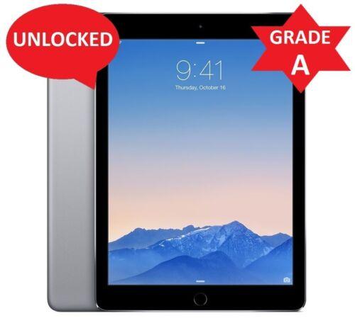 Gray Unlocked Apple iPad Air 1st Gen 64GB Wi-Fi 4G AT/&T 9.7in R