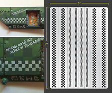 CHECKERS SELF ADHESIVE AIRBRUSH STENCIL WARGAMING FALLOUT HOBBIES WMG
