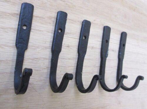 7.6cm Utensilien Haken Hand Geformt Schmied Alt Rustikale Vintage Stil Küche