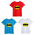 Hot sell Kids Baby Boys Girls Batman Short sleeve Tops T-shirt Clothing 0~5Y CA
