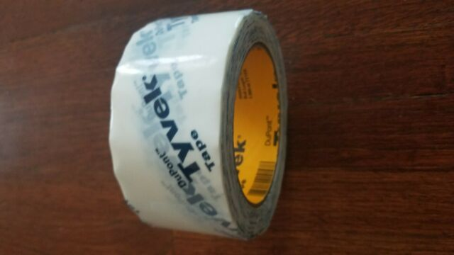 3 Rolls of Dupont Tyvek Tape 1.8 in X 164 FT Each
