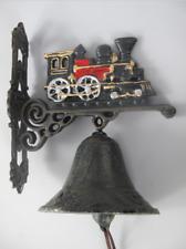 Lok Lokomotive Eisenbahn Türglocke Glocke Wandglocke aus Gusseisen Zug