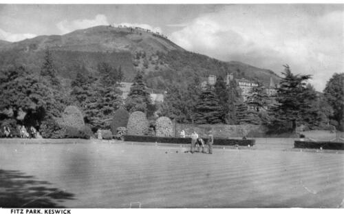 Fitz park Keswick Bowls Bowling unused RP old pc Photocrafts Carlile