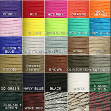 New 550 Paracord Parachute Cord Lanyard Mil Spec Type III 7 Strand Core 100 FT