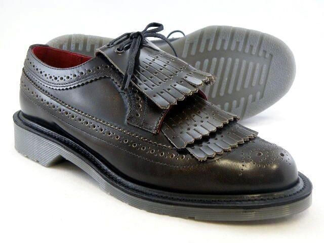 Dr. Martens Women`s Elizabeth MIE Tassel Leather Brogue Grey US 9