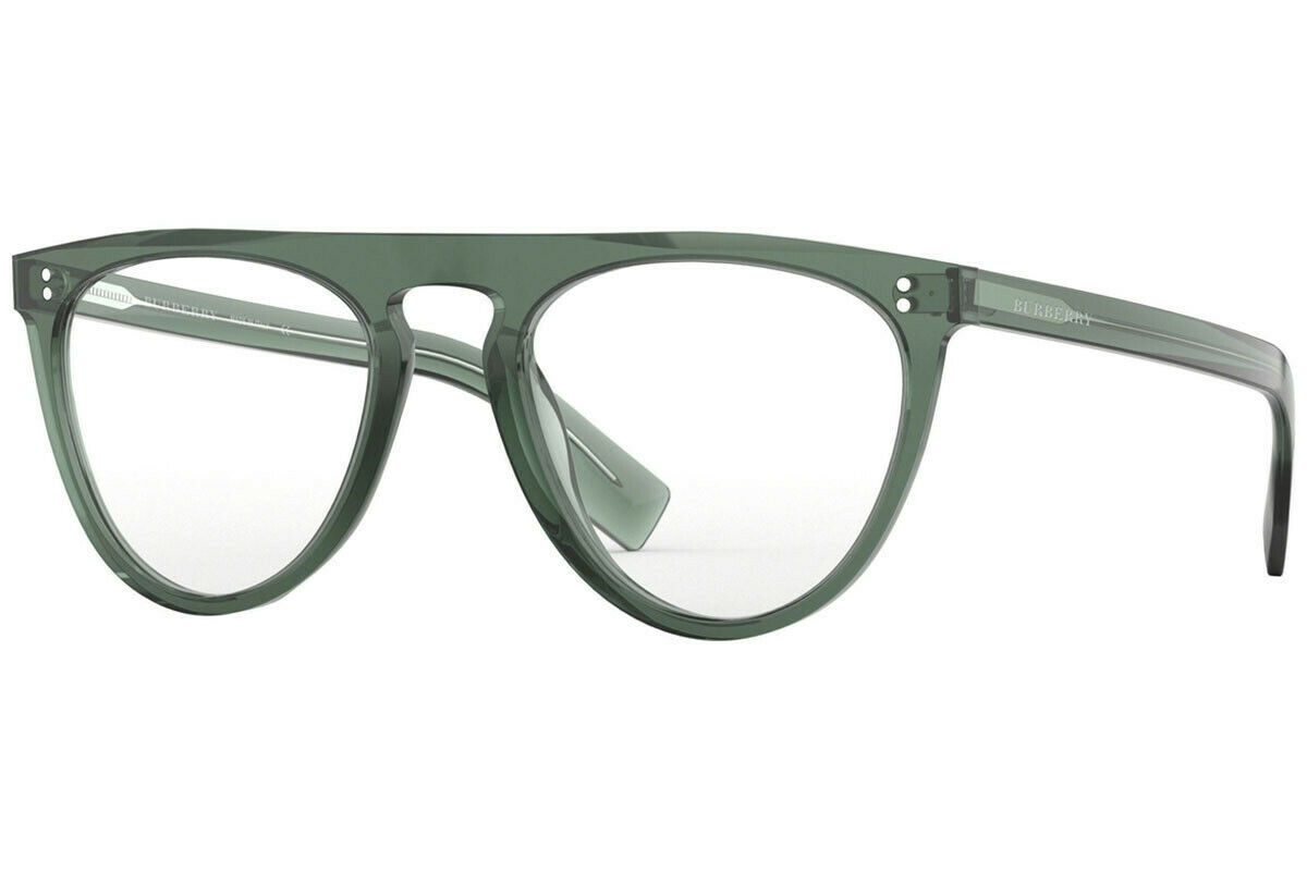 Authentic Burberry BE4281 - 37811W Sunglasses GREEN w/ CLEAR *NEW* 54mm