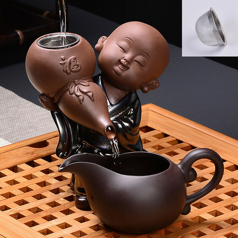 Yixing zisha holder for filter net stainless steel strainer tea filter creative