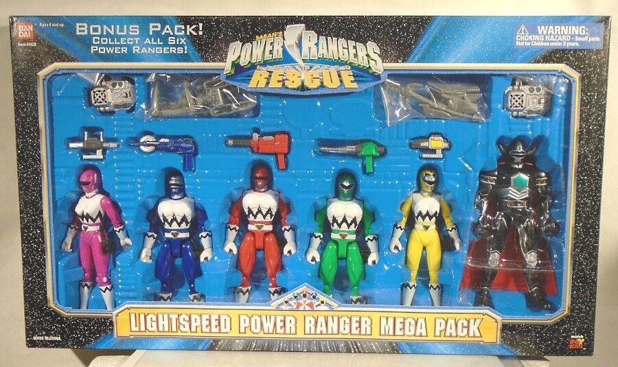 Power Rangers perdió Galaxy hablando Mega Pack Lightspeed Rescue Caja Magna Defender