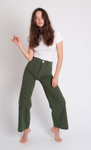Jesse Kamm Sailor Pants Olive - 12