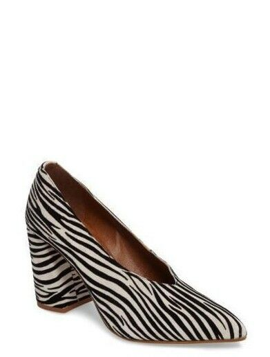 TOPSHOP Zebra Print Leder Gina V Cut Pump Größe UK 9 EU 42 NH085 LL 09