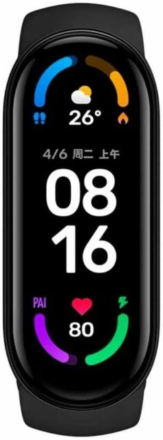 "Xiaomi Mi Band 6 Fitnesstracker  1,56"" AMOLED  - Schwarz EU Version"