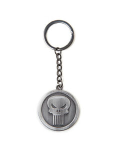 OFFICIAL-MARVEL-comics-the-punisher-symbole-rond-metal-porte-cles-brand-new