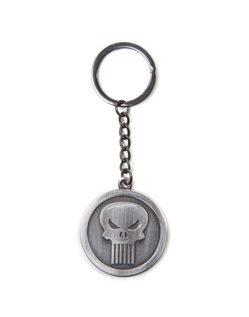 OFFICIAL MARVEL comics the punisher symbole rond métal porte-clés (brand new)