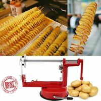 Manual Red Stainless Steel Twisted Potato Slicer Spiral French Fry Cutter Vip