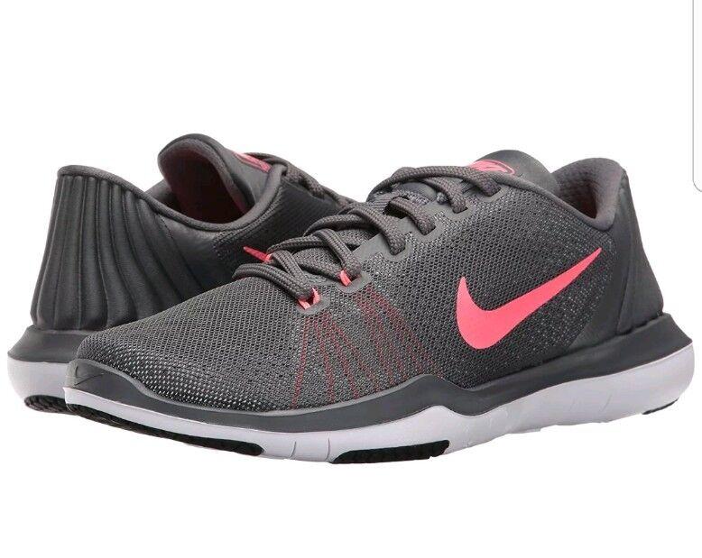 Nike Flex Supreme TR 5 Womens 852467-003 Dark Grey Punch Training Shoes Size 6.5