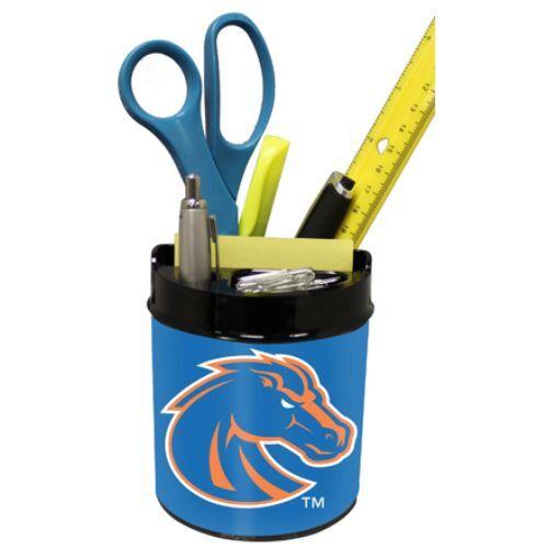 BOISE STATE BRONCOS NCAA Office Desk Caddy PEN//PENCIL//BUSINESS CARD HOLDER