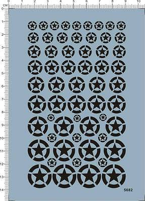 Detail Up All Scale WW2 WWII USA US ARMY Star Markings Military Model Kit Decal