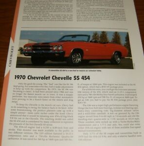 Details about ★★1970 CHEVY CHEVELLE SS 454 SPECS INFO PHOTO 70 LS6 LS5  SS454★★