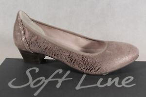 Donna Nuovo Taupe Larghezza H Pantofole Jana Line Soft By pumps TqASU