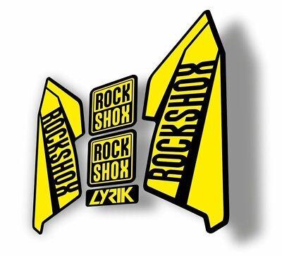 Rock Shox LYRIK 2016 Mountain Bike Cycling Decal Kit Factory Sticker Yellow