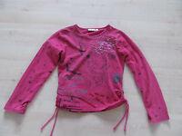 Tom-DU Shirt Langarm pink dunkelrosa rosa  Mädchen Gr.116 / 122 SÜß!