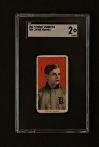 1910 Piedmont T206 Claude Rossman SGC 2