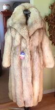 Beautiful Real Norwegian FOX FUR brown tip Coat for women - medium to large