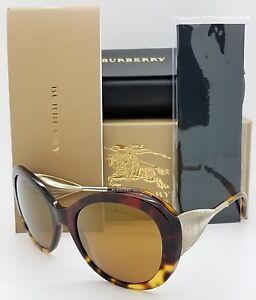 dd9c5f1da595 NEW Burberry Sunglasses BE4191 36646H 57 Tortoise Gold Round GENUINE ...
