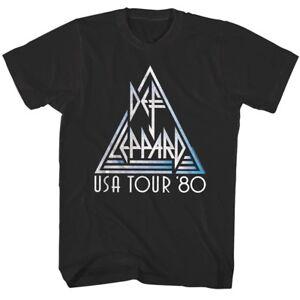 Def-Leppard-USA-Tour-1980-Mens-T-Shirt-Metal-Rock-Band-Album-Concert-Music-Merch