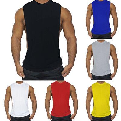 Men/'s Summer Sleeveless Training Gym Sports Muscle Tee T Shirt Vest Tank Tops