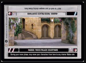 Star Wars CCG Naboo Theed Palace Courtyard DSCoruscantNM//Mint Bonus