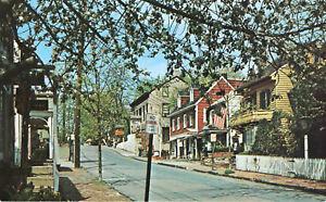 Details About Mechanic Street New Hope Pennsylvania Postcard Architecture Shops Restaurants