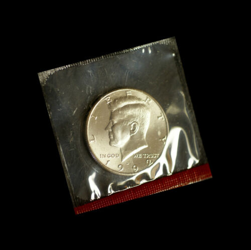 1992 D Kennedy Half Dollar ~ Uncirculated in Cellophane from Mint Set