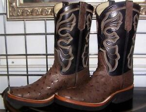 7bed89ad305 Details about Rios of Mercedes Full Quill Ostrich Crepe Sole Cowboy Boots  Ladies 7.5 C