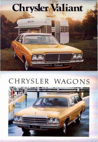 Two 1977 CHRYSLER CL VALIANT Australian Brochures Sedans /& Wagons