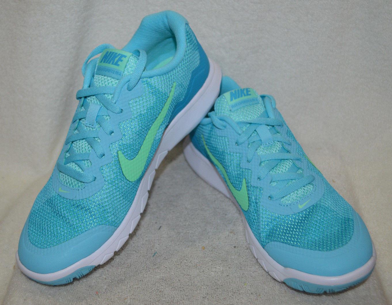 Nike frauen flex erfahrung geführte 4 premium - blau / blow / w - laufschuhe asst größen