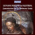 Palestrina Lamentazione I Cantori De Lorenzo Audio CD