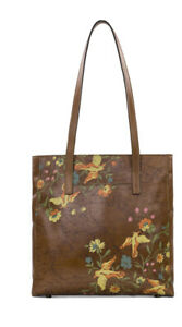 NWT-Patricia-Nash-Viana-Tote-Floral-Map-Brown-Multi-Shoulder-Tote
